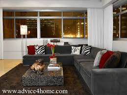 l shaped living room design black l shape sofa design and white