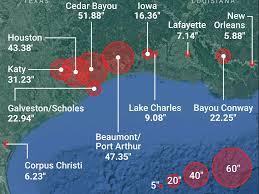 United States Storm Map by Hurricane Harvey 2017 Rainfall Map From Texas To Louisiana
