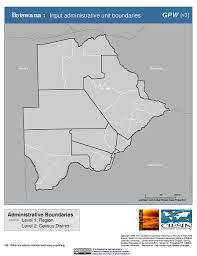Botswana Map Map Gallery Sedac