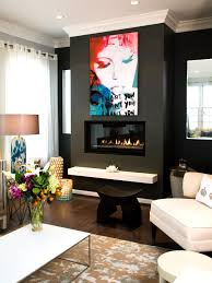 amazing solid color hanging fireplace design with glass mantel and