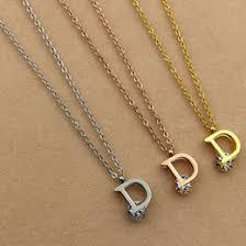 gold letter d necklace online gold letter d necklace for sale