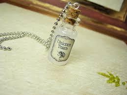bottle necklace aliexpress images Unicorn tears 2ml glass vial glass bottle necklace unicorns jpg