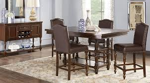 chocolate dining room table lovely stanton cherry 5 pc counter height dining room sets at table