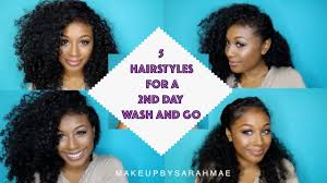 hairstyles for day old curls 5 easy and simple hairstyles for a 2nd day wash and go curly