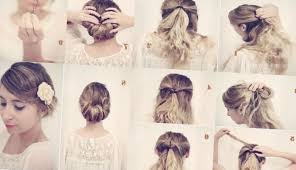 coiffure pour mariage cheveux mi coiffure simple pour mariage cheveux mi tendances 2016 2017