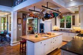 Kitchen Island With Hanging Pot Rack Bon Ton Residence Traditional Kitchen Other By Locati