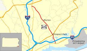 Prospect Park Map Pennsylvania Route 420 Wikipedia