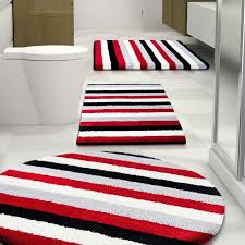 Gray And White Bathroom Rugs 52 Best Red Bathroom Rugs Images On Pinterest Red Bathrooms
