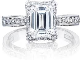 emerald cut engagement rings tacori channel set emerald cut engagement ring w bloom 26463ec