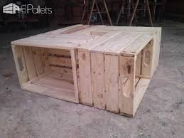 Coffee Table Out Of Pallets coffee table out of repurposed crates u2022 1001 pallets