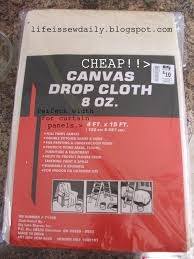 life is sew daily no sew 30 minute dropcloth curtains tutorial