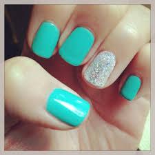 nails tiffany blue gel shellac beautiful creative nails