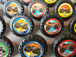 monster truck jam party supplies 24 monster jam rings cupcake toppers cake birthday party
