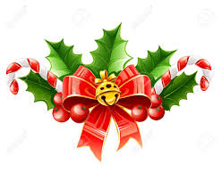 White Bow Christmas Decorations by Christmas Decoration Of Red Bow With Gold Bell And Holly Leaves