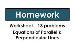 writing u0026 identifying equations of parallel u0026 perpendicular lines