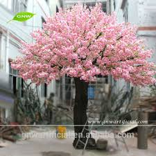 large outdoor artificial decorative trees 14ft pink color wedding