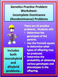 practice problems worksheet incomplete dominance nondominance