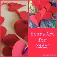 mini monets and mommies valentine u0027s day heart garland kids u0027 art