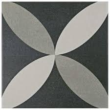 merola tile twenties petal 7 3 4 in x 7 3 4 in ceramic floor and
