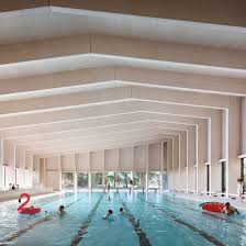 HawkinsBrown uses engineered wood to build school swimming pool