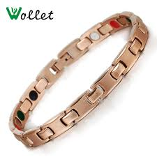 bracelet healthy images Wollet jewelry women 39 s rose gold healthy magnetic stainless steel jpg