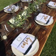table settings a maui wedding day