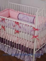 Shabby Chic Crib Bumper by Shabby Chic Baby Nursery Idea With Blush Floral Satin Crib Bedding