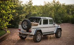 2018 mercedes maybach g650 landaulet white exterior rear and side