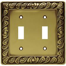 Decorative Wall Plate Covers Brass Switch Plates Wall Plates The Home Depot