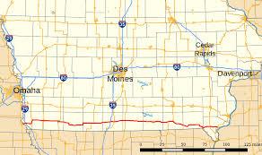 Iowa Map With Cities Iowa Highway 2 Wikipedia
