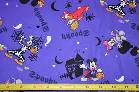 last one 1 2 yard of disney spooky mickey purple halloween trick