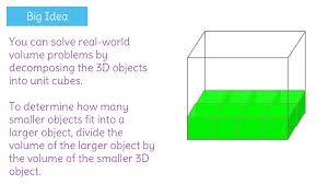 solve real world problems involving the volume of rectangular