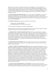 photography contract template photography contract template 1