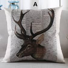 canapé style vintage oreiller deer maison de style vintage oreillers décoratifs pour