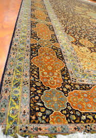 Blue And Gold Rug Ardabil Silk On Silk Rug Brown Blue Gold Medallion Rugs