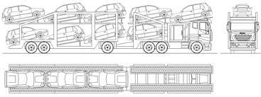 camion porta auto camion da trasporto dwg