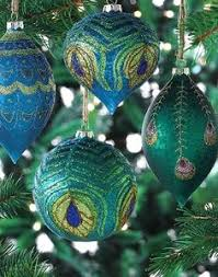 Peacock Blue Christmas Decorations decorating theme bedrooms maries manor peacock color christmas