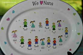 personalized ceramic platters mothers day gifts give a ceramic personalized platter from