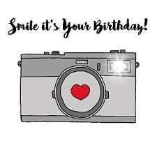handmade personalised birthday card camera photography grey party