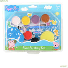 peppa pig childrens face painting kit 8 colours brush