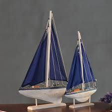 boat decor for home wooden sailing ship model mediterranean carving wood boat marine