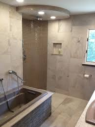 bathroom explore the options with open shower ideas open ended