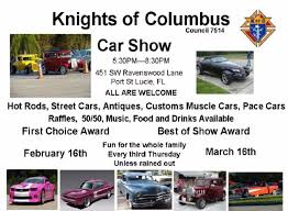 Rental Cars In Port St Lucie Upcoming Activiies And Social Events Knights Of Columbus Council