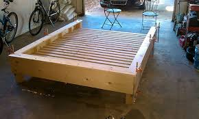 Build Platform Bed Easy by Captivating Platform Bed Plans With Easy Diy Platform Bed Shanty 2