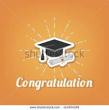 congratulation poster congratulation poster graduation party graduate cap stock vector