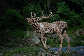 sculptor transforms driftwood into astounding lifelike animals in