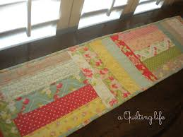 Quilted Table Runners by Simple Table Runner A Tutorial A Quilting Life A Quilt Blog