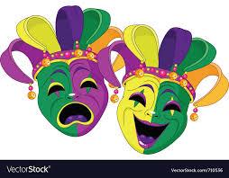 mardi gras skull mask mardi gras comedy and tragedy masks royalty free vector