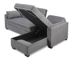 Sofa King Furniture by Floor Model Augustine Sectional Sofa King Bed Moon Grey By Serta