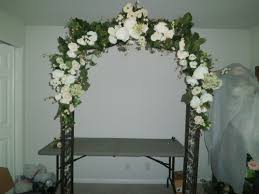 wedding arches okc ideas white birch arbor acrylic columns weddings lighted